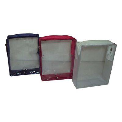 Jumas Produtos Promocionais - Nécessaire em PVC com zíper de algodão