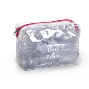 jumas - Necessaire em cristal 020 com zíper comfeccionado em algodão.