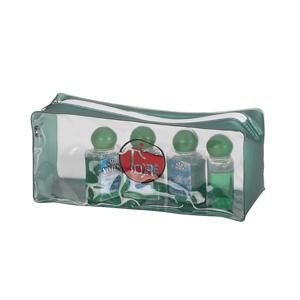 jumas - Necessaire em cristal 020 com fole em alclear e zíper de algodão.