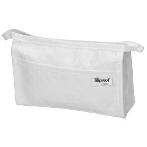 Jumas Produtos Promocionais - Necessaire em matelasse com bolso externo, zíper e acabamento em debrum externo.
