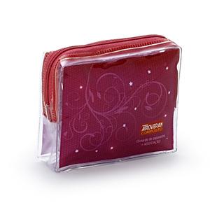 Jumas Produtos Promocionais - Necessaire personalizada em cristal 020 com zíper.