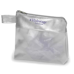 Jumas Produtos Promocionais - Necessaire em sarja 030 com faixa em sintético, zíper e alça na lateral.
