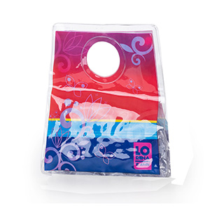 Jumas Produtos Promocionais - Sacola em cristal com alça vazada.