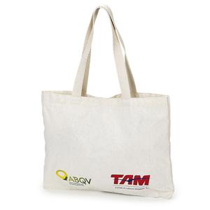 Jumas Produtos Promocionais - Sacola em lona de algodão cru com alça em cadarço de algodão.