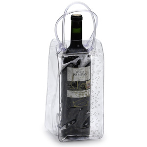 Sacolinha para vinho em cristal 030 com alça espaguete. - Jumas Produtos Promocionais
