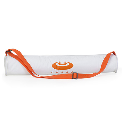 jumas - Tubo térmico para 3 latas em nylon 600 zíper, vivo e alça de ombro com regulador. 8diam x 40