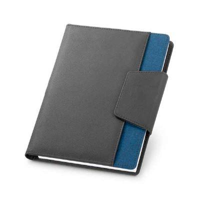 Capa em couro sintético com caderno