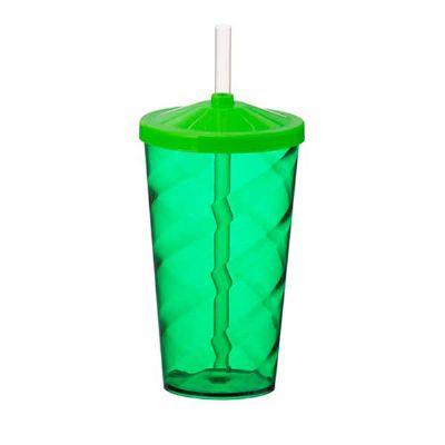 box-brindes - Copo Twister 550 ml com tampa e canudo
