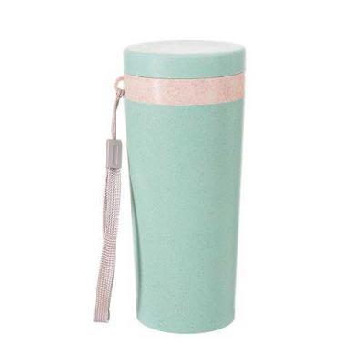Copo térmico em Fibra de Bambu e Polipropileno livre de BPA Alça de mão Capacidade 350 ml. Tampa ...