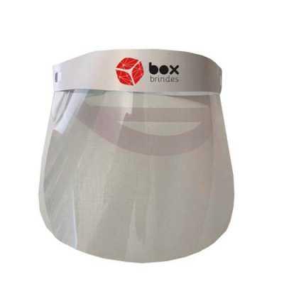 Máscara em acetato com PP, super leve, com cinta ajustável na cabeça que pode ser transparente ou...