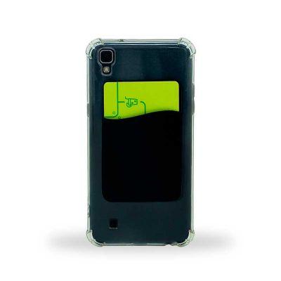 box-brindes - Porta cartão adesivo em PVC para celular