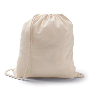 box-brindes - Sacochila de algodão personalizada