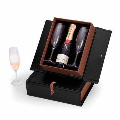 projeto-promocional - Kit Espumante com duas taças e caixa