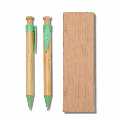 projeto-promocional - Conjunto Caneta e Lapiseira Bambu