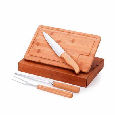 Kit Churrasco Bambú com caixa cartonada