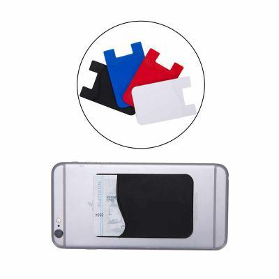soma-brindes - Adesivo porta cartão para celular, basta remover o selo traseiro e colar a parte adesivada no celular. Material de silicone com área interna texturiza...