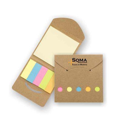 SOMA Brindes - Mini bloco ecológico com sticky notes