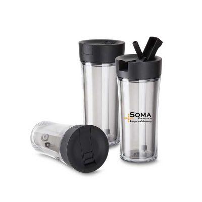 soma-brindes - Copo plástico 500 ml com tampa de bico
