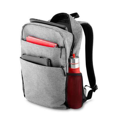 SOMA Brindes - Mochila de nylon com compartimento para notebook. Possui compartimento grande com bolso para notebook e dois bolsos para documentos; compartimento fro...