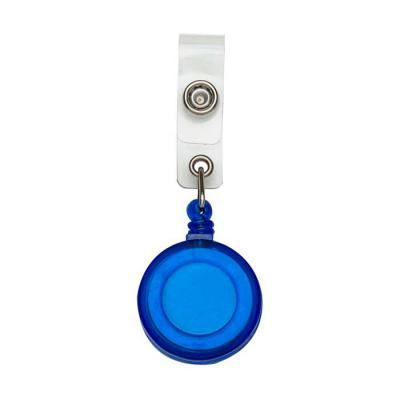 SOMA Brindes - Porta crachá retrátil plástico, cores leitosas e translúcidas. Roller clip possui sistema extensor em nylon que após puxar é recolhido automaticamente...