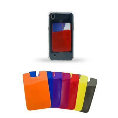 soma-brindes - Adesivo porta cartão para celular, basta remover o selo traseiro e colar a parte adesivada no celular. Material de pvc com textura lisa, parte interna...