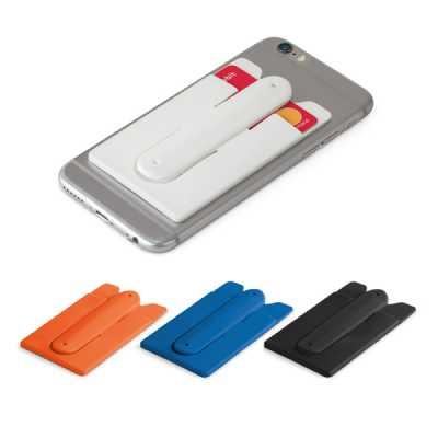soma-brindes - Adesivo porta cartão de silicone para celular