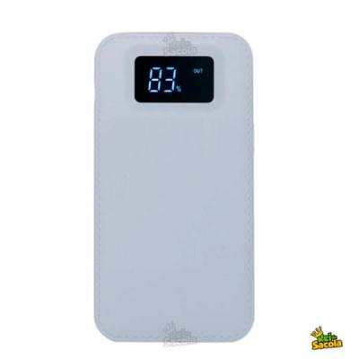 Rei da Sacola - Power Bank personalizado, carregador portátil com marcador digital.