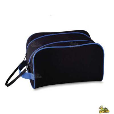 rei-da-sacola - Necessaire personalizada com cursor duplo, trava com velcro e alça de mão, tam. 18x25x15cm