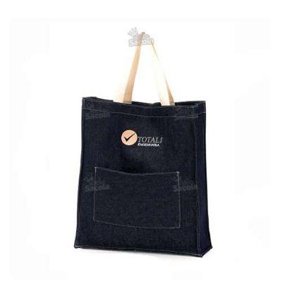 rei-da-sacola - Sacola Personalizada Jeans