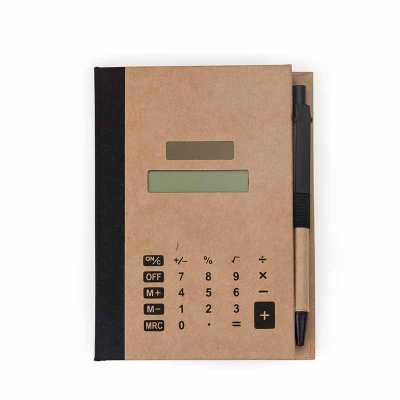qi-brindes - Bloco de Anotações com Autoadesivos e Calculadora personalizado