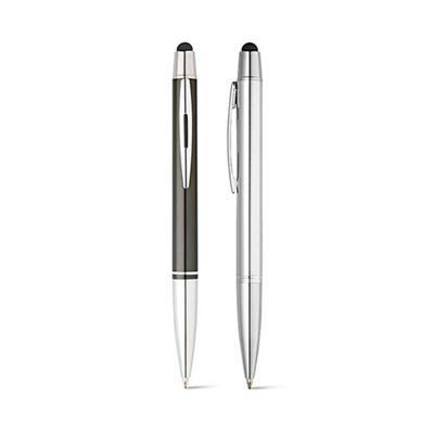 qi-brindes - Esferográfica Alumínio. Com ponteira touch. 1,5km de escrita. ø11 x 135 mm