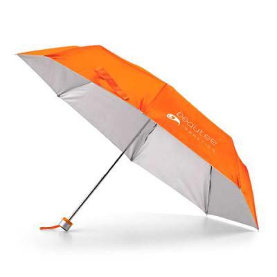 qi-brindes - Guarda-chuva dobrável. Poliéster 190T. Dobrável em 3 seções. Fornecido em bolsa. ø960 mm | 240 mm | Bolsa: ø40 x 225 mm
