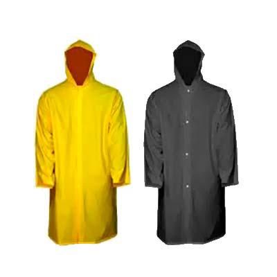 qi-brindes - • Capa de chuva • Confeccionada em PVC laminado transparente • Sem forro • Soldada eletronicamente com manga e capuz • Fechamento frontal por botões d...