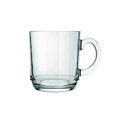 Caneca de vidro transparente