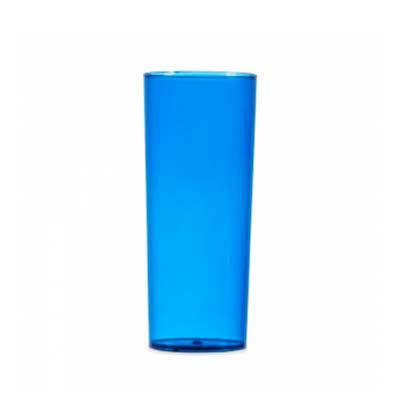 Copo long drink 330ml, material acrílico translúcido. Medidas aproximadas para gravação (CxD): 14...