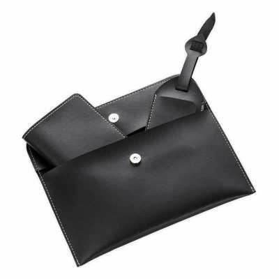 QI Brindes - Kit Viagem 3 Peças em couro personalizado