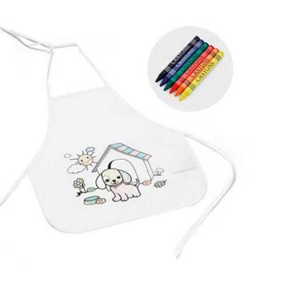 Avental de criança para colorir personalizado