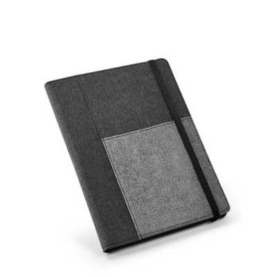 Caderno com capa em poliéster personalizado