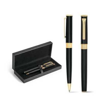 kit canetas banhadas a ouro personalizada