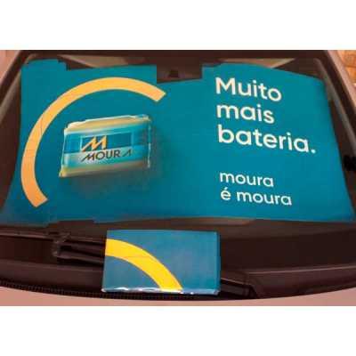 Tapa sol compacto em cartão duplex 300 gr/m2, impresso em off-set, laminado e acoplado ao micro ondulado. Formato especial ( 112 x 68 cm) Modelo exclu... - Work Promo