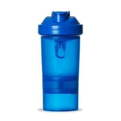 tiff-grafica - Coqueteleira 400ml plástica com porta suplementos desmontável. Possui copo 400ml (medida em ml e oz), compartimento com divisória para comprimidos, co...