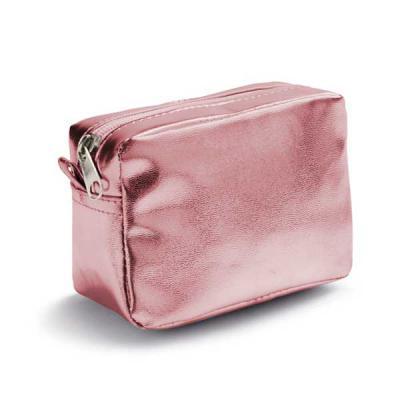 tiff-grafica - Bolsa Multiuso Personalizada em PVC. No tamanho: 140 x 95 x 70 mm. Disponível nas cores: Rosa, Prata e Dourado. Personalizada em Silkscreen.