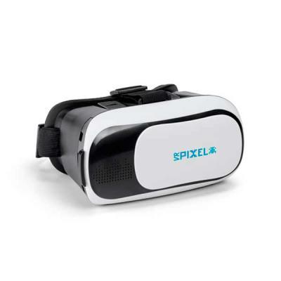 Óculos de realidade virtual, com elásticos ajustáveis nas laterais e superior. Lentes ajustáveis ...