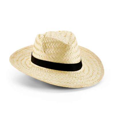 Chapéu Panamá em palha natural. Tamanho: 580 mm Dois tons de palha. Fita nas cores bege e marrom....