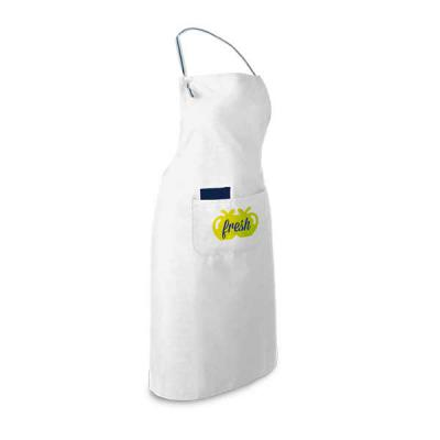 Tiff Gráfica - Avental Chef Personalizado em algodão e poliéster na gramatura de 150 g/m². Ajustável. Com 2 bolsos. Tamanho: 650 x 900 mm | Bolso int.: 80 x 140 mm |...