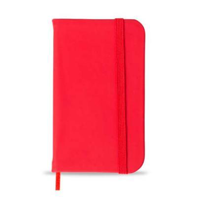 Tiff Gráfica - Caderneta com capa emborrachada de frente e verso lisa, marcador de página em cetim e fita elástica para fechar. Contém aproximadamente 80 folhas pard...