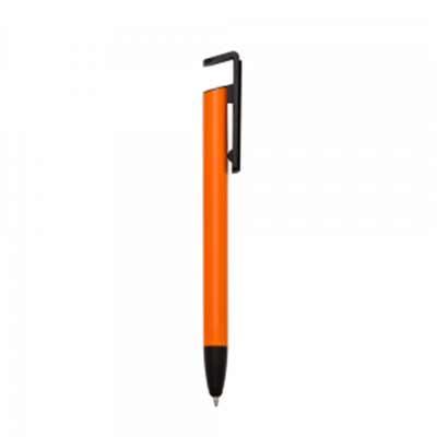 Tiff Gráfica - Caneta metal multifunções. Corpo colorido e detalhes preto, possui clip com limpador de teclado e parte superior vazada para ser utilizada como suport...