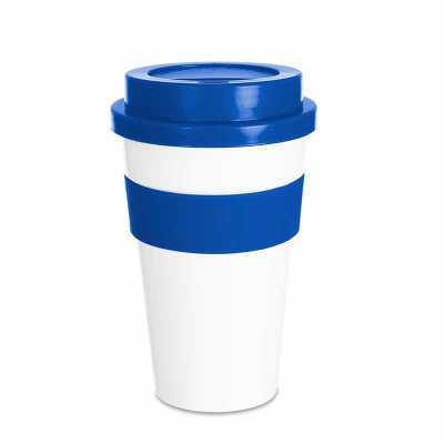 tiff-grafica - Copo plástico 480ml com tampa. Produzido em polipropileno e livre de BPA, o copo possui uma luva de silicone (removível) que impede a transferência de...