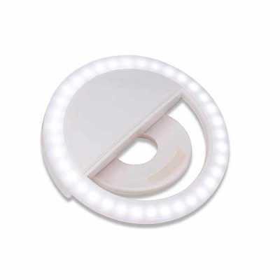 """Tiff Gráfica - Anel de iluminação para celular, utilizado para fotos em formato selfie. """"Ring light"""" plástico no formato """"presilha"""" para encaixe, possui três estágio..."""
