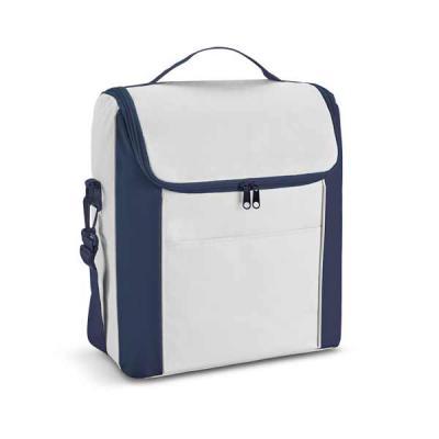 - Bolsa térmica Personalizada de Nylon 600D com alça ajustável. Capacidade 18 L. Food grade. Tamanho: 29 x 34 x 19 cm Personalização em Silkscreen.